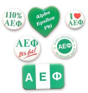 Alpha Epsilon Phi Sorority Buttons 6-Pack