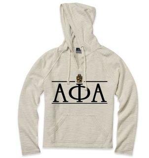 Alpha Phi Alpha Line Crest Lucas Loop Fleece Hood
