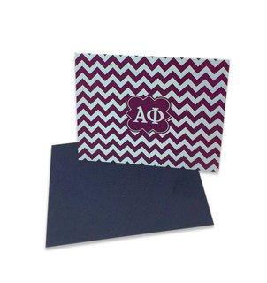 Alpha Phi Chevron Note Cards w/ Envelopes (10)