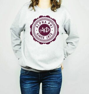 Alpha Phi Seal Crewneck Sweatshirt