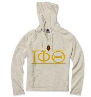 Iota Phi Theta Line Crest Lucas Loop Fleece Hood