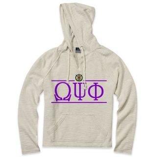 Omega Psi Phi Line Crest Lucas Loop Fleece Hood