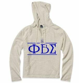 Phi Beta Sigma Line Crest Lucas Loop Fleece Hood