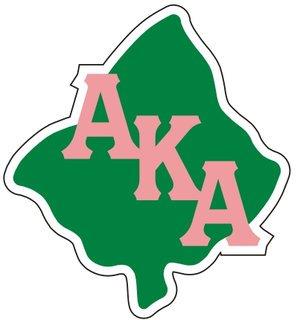 Alpha Kappa Alpha Reflective Sticker, Leaf