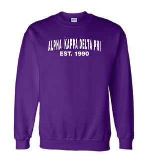 alpha Kappa Delta Phi Since Crewneck Sweatshirt