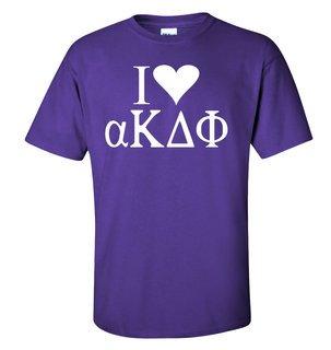 I Love alpha Kappa Delta Phi T-Shirt