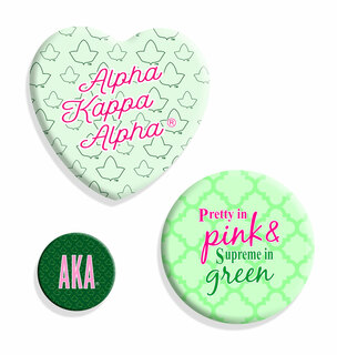 Alpha Kappa Alpha Button Set