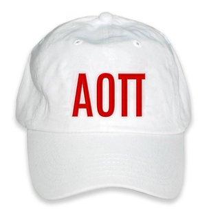 Alpha Omicron Pi Double Greek Letter Cap