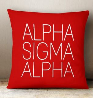 Alpha Sigma Alpha Simple Pillow