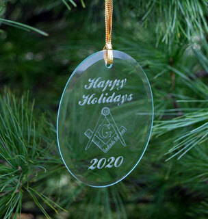 Mason / Freemason Glass Ornament