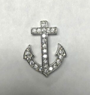 Super Savings - Delta Gamma Anchor Pendant - SILVER 1 of 2