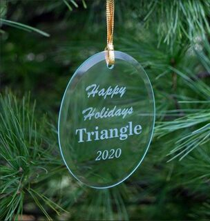 Triangle Fraternity Holiday Glass Ornaments