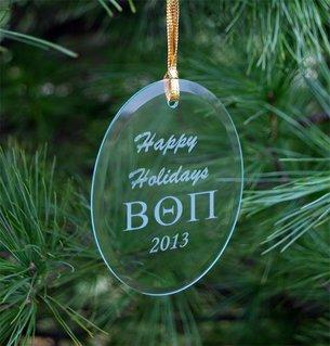 Beta Theta Pi Greek Holiday Glass Ornaments