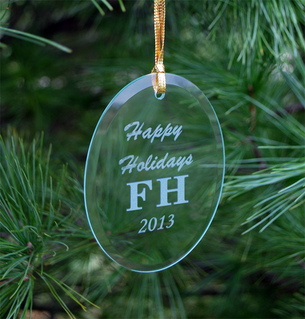 FarmHouse Fraternity Holiday Glass Ornaments