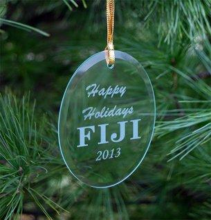 FIJI Fraternity Holiday Glass Ornaments