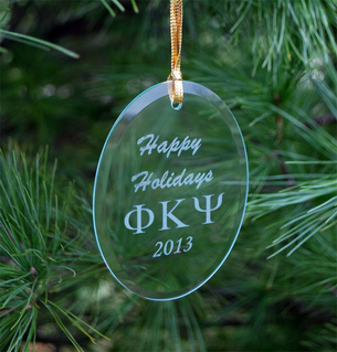 Phi Kappa Psi Greek Holiday Glass Ornaments