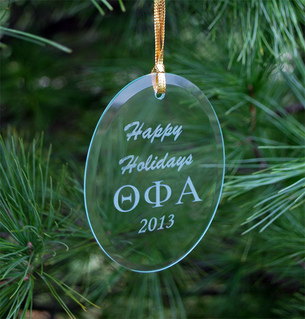 Theta Phi Alpha Holiday Glass Ornaments