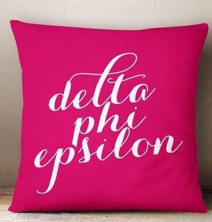 Delta Phi Epsilon Script Pillow