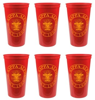Pi Kappa Alpha Set of 6 Big Plastic Stadium Cups