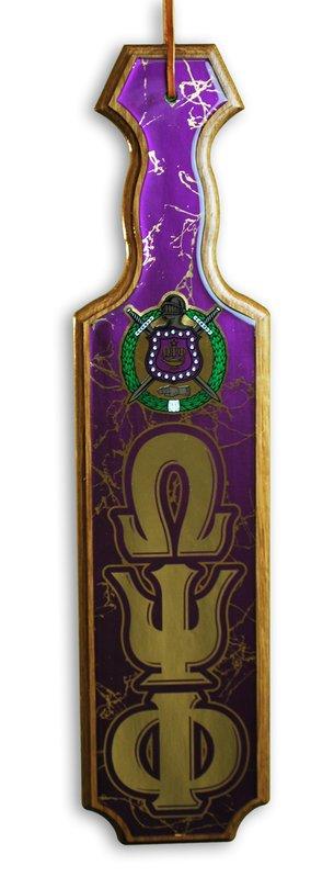 Omega Psi Phi Paddles Domed