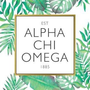 Alpha Chi Omega Tropical Sticker Decal