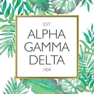 Alpha Gamma Delta Tropical Sticker Decal