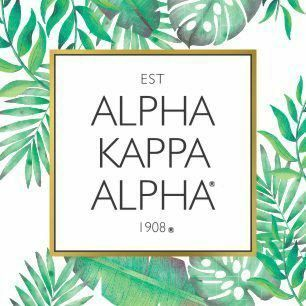 Alpha Kappa Alpha Tropical Sticker Decal