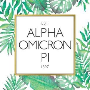 Alpha Omicron Pi Tropical Sticker Decal