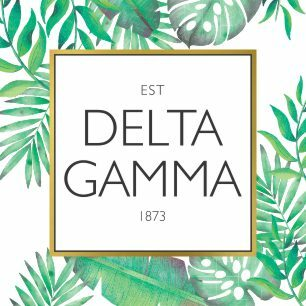 Delta Gamma Tropical Sticker Decal