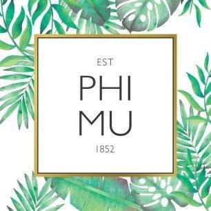 Phi Mu Tropical Sticker Decal