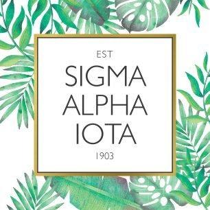 Sigma Alpha Iota Tropical Sticker Decal