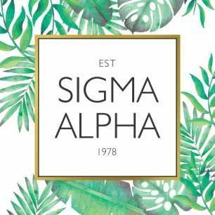 Sigma Alpha Tropical Sticker Decal