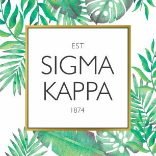Sigma Kappa Tropical Sticker Decal