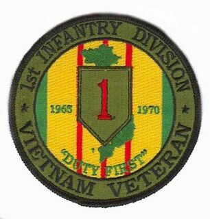 1st Infantry Division Vietnam Veteran Patch