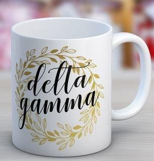 Delta Gamma Wreath Coffee Mug