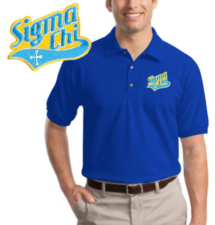 DISCOUNT-Fraternity Tail Emblem Polo