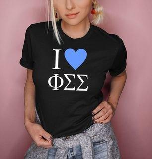 I Love Phi Sigma Sigma T-Shirts