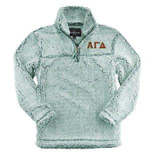 Alpha Gamma Delta Sherpa Quarter Zip Pullover