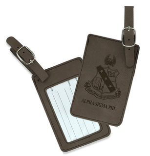 Alpha Sigma Phi Crest Leatherette Luggage Tag