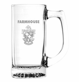 FarmHouse Fraternity Glass Engraved Mug