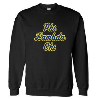 Phi Lambda Chi Twill Name Crewneck Sweatshirt
