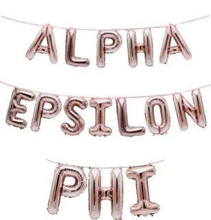 Alpha Epsilon Phi Banner Balloon Set