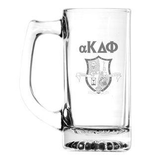 alpha Kappa Delta Phi 13 oz. Glass Engraved Mug