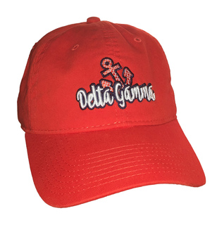 CLOSEOUT - Delta Gamma Mascot Hot Coral Game Hat  - Limited Edition!