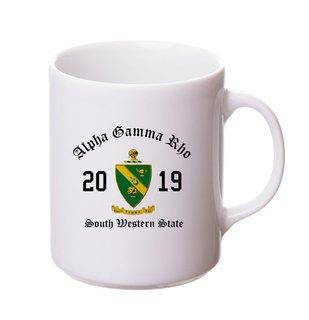 Alpha Gamma Rho Crest & Year Ceramic Mug