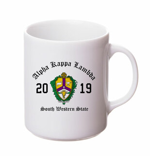Alpha Kappa Lambda Crest & Year Ceramic Mug