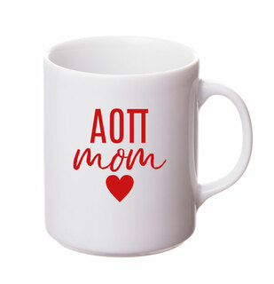 Alpha Omicron Pi White Personalized Coffee Mug