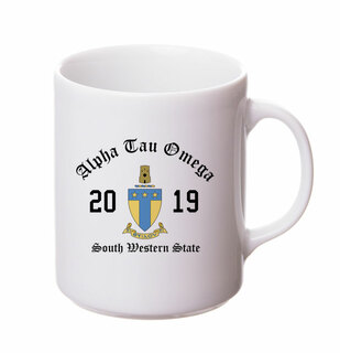 Alpha Tau Omega Crest & Year Ceramic Mug