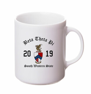 Beta Theta Pi Crest & Year Ceramic Mug
