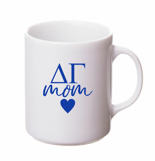 Delta Gamma White Personalized Coffee Mug
